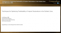 Esthetic Zone Implant-Supported Restorations Webinar Thumbnail